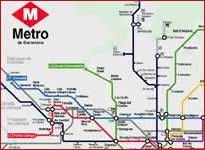 Metro map of Barcelona