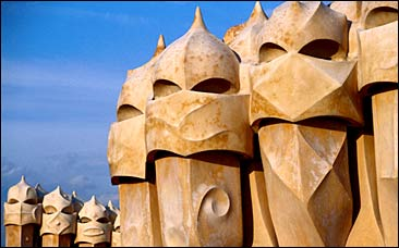 Sculptures on the roof of La Pedrera