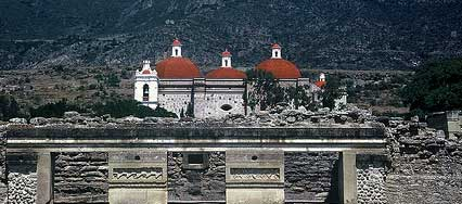 The Spanish church built on top of Mixtec/Zapotec ruins, Mitla