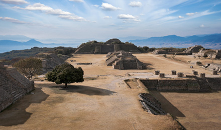 Monte Alban ruins in Oaxaca, Mexico
