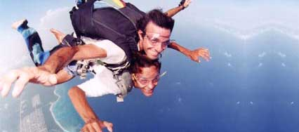 Skydiving over Playa del Carmen