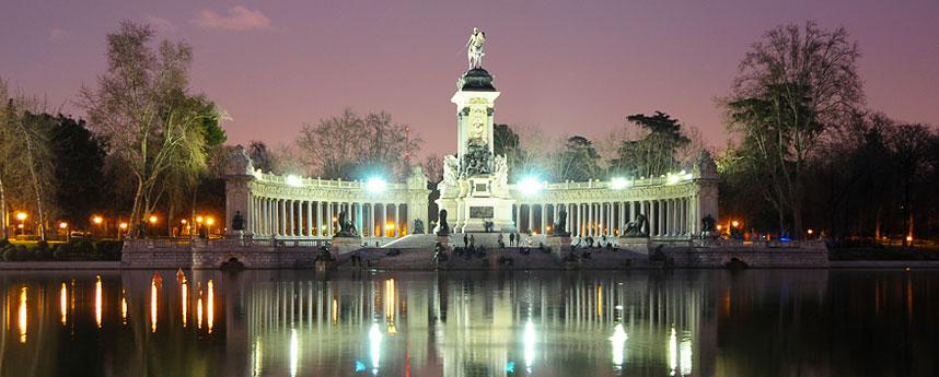 Het Retiro Park in Madrid