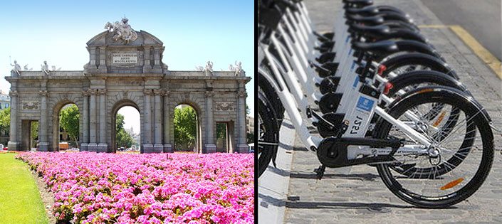 Bikes in Madrid