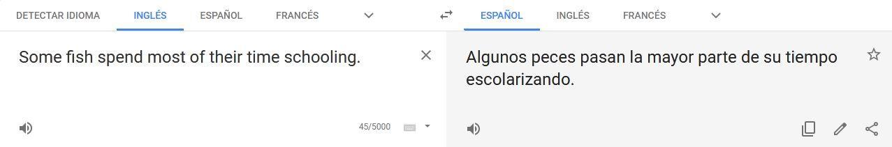 errores de google translate en español con polisemia