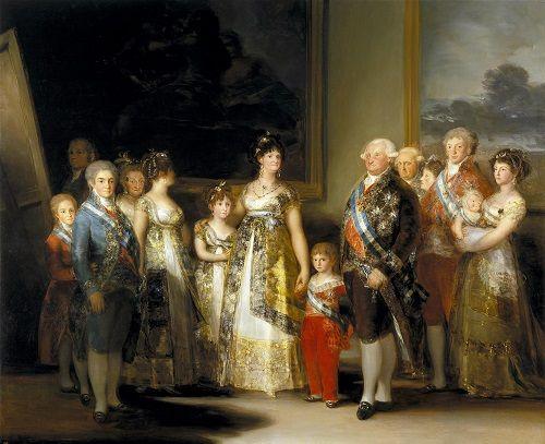 La familia de carlos IV
