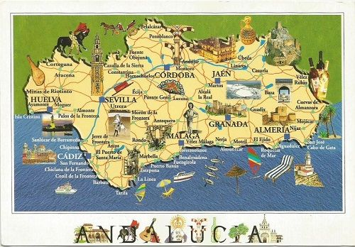 mapa de Andalucía