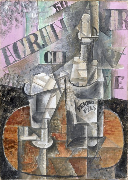 Table in a Cafe (Bottle of Pernod) by Pablo Picasso