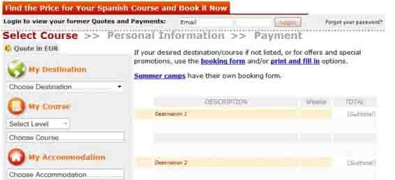 Study Spanish abroad price