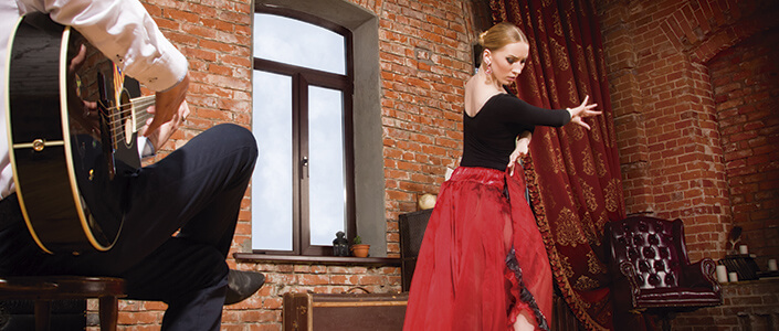 Dance Spanish flamenco