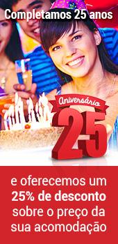 Comemore o nosso 25º Aniversário