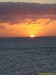 Puesta de sol visto en la playa