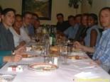 Cena de bienvenida en Granada, 28 de octubre de 2002