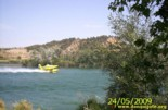 Firefighter on the Ebro river
