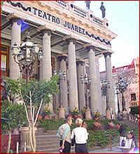 Het oude theater van Guanajuato