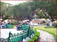 Uno scorcio di un tipico patio messicano