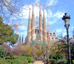 De beroemde Sagrada Familia in Barcelona