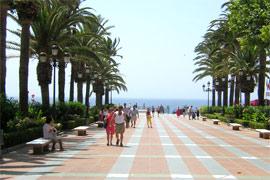 Promenade au bord de mea Malaga