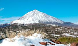 El impresionante volcán Teide (3,718 metros)