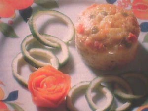 Vegetable and tuna cakes