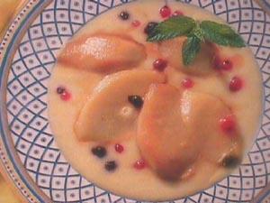 Pears in Vanilla sauce