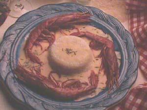 Red shrimps in cava