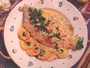 Plaice with garlic