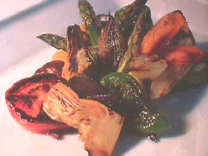 Barbecued vegetables