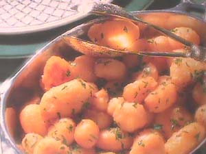 Caramelised potatoes