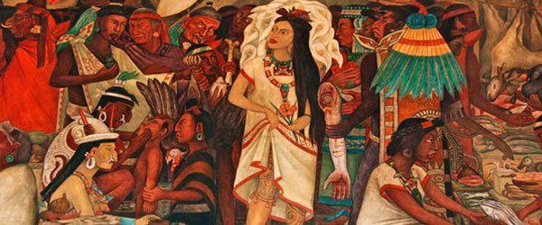 La malinche spanish conquest of mexico don quijote for Diego rivera la conquista mural