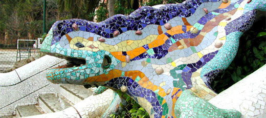 Park Güell in Barcelona by Antonio Gaudí