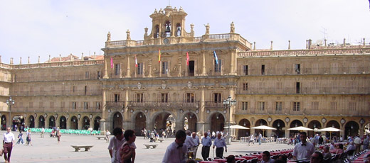 The Plaza Mayor in Salamanca