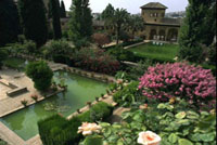 Fountain and Rose Garden of Generalife Palace