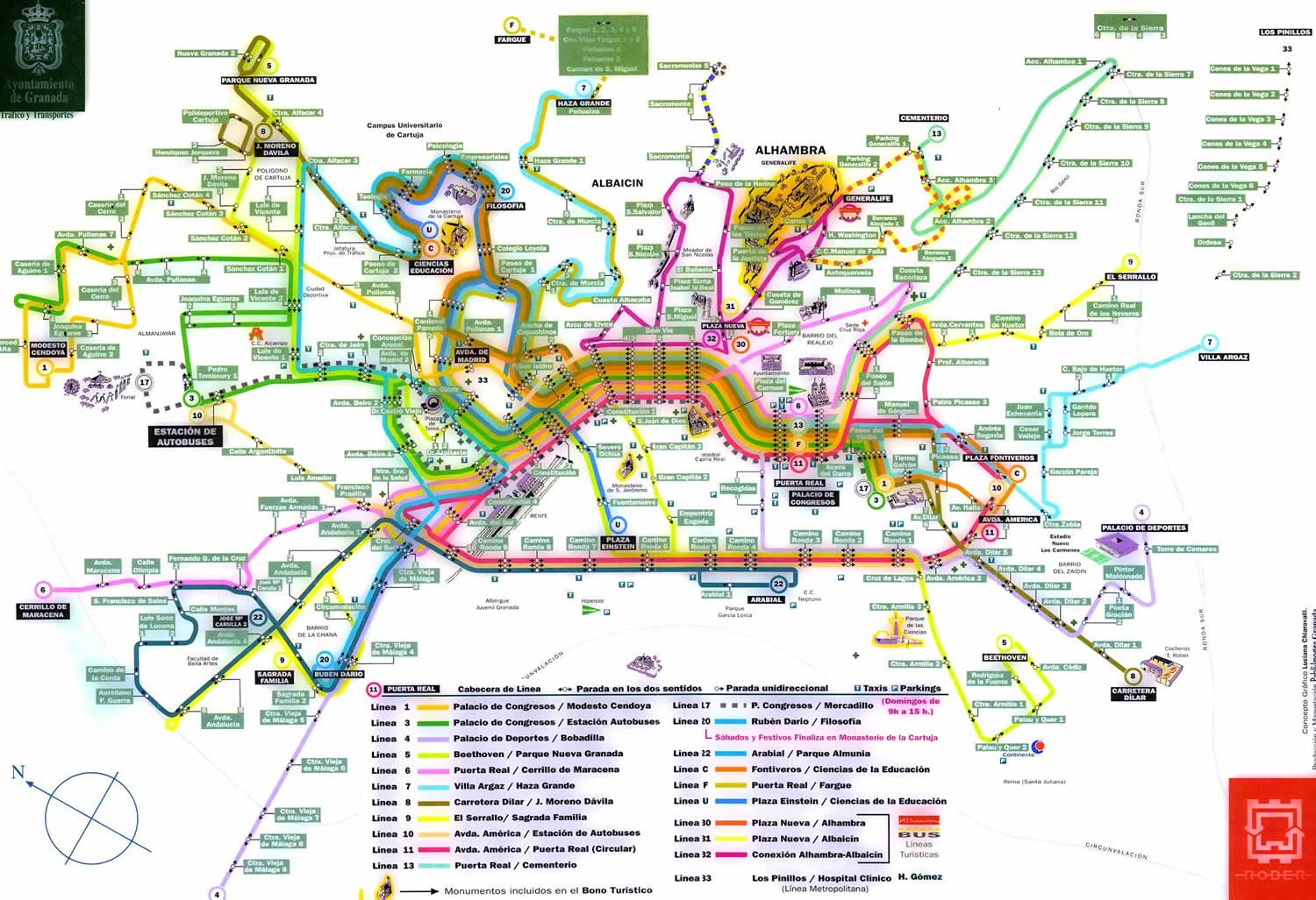 Granada Maps – Train Travel In Spain Map