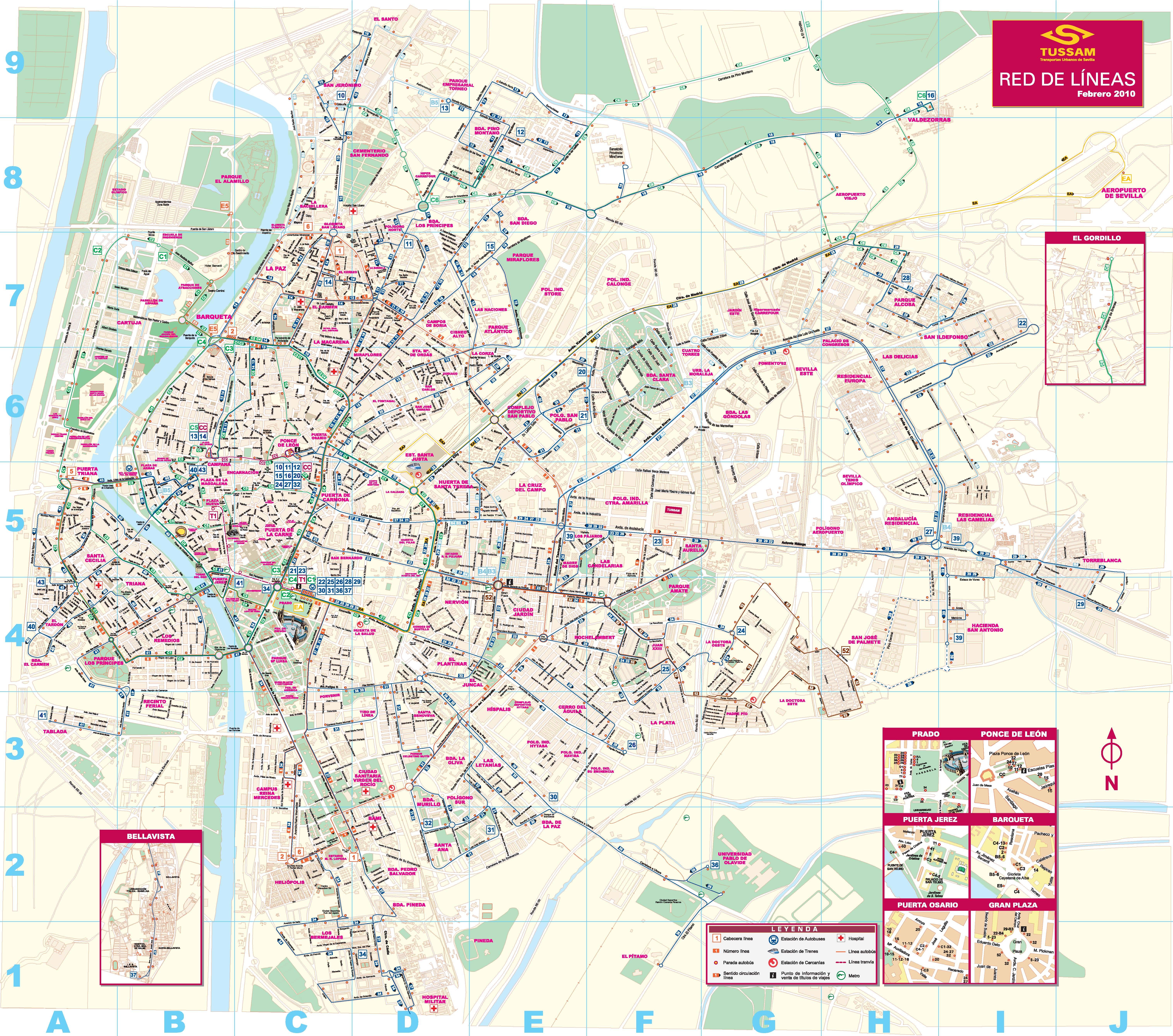 Sevilla Maps - Sweden bus map