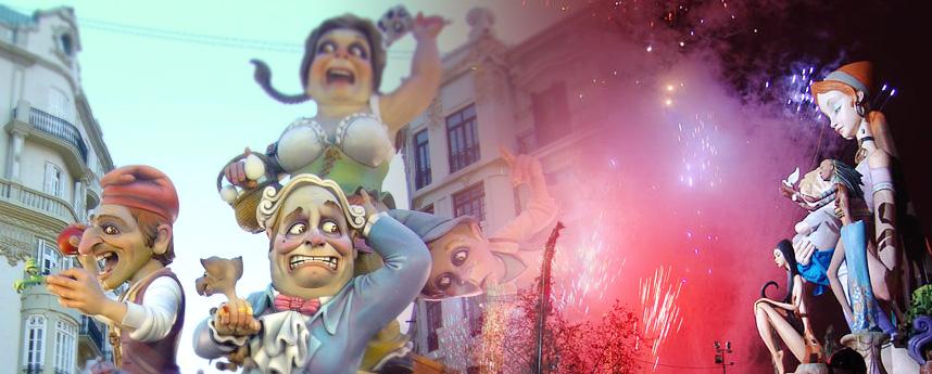 Las Fallas in Valencia