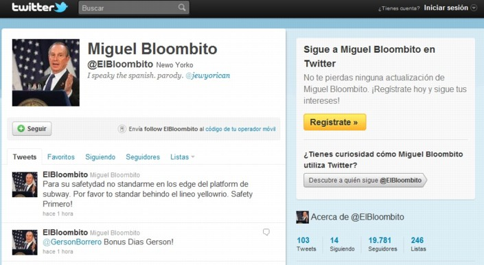 Miguel Bloombito Twitter account