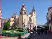 De grote kerk van Guatajuato