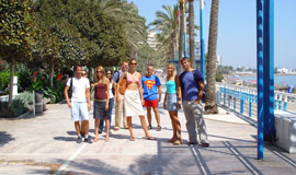 De boulevard van Marbella Paseo Maritimo