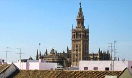 De oude katedraal van Sevilla La Giralda