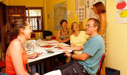 Het multimedialokaal op de school in Tenerife