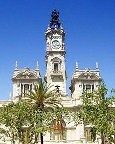 Het gemeentehuis van Valencia