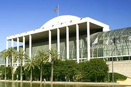 Het beroemde muziekgebouw in Valencia